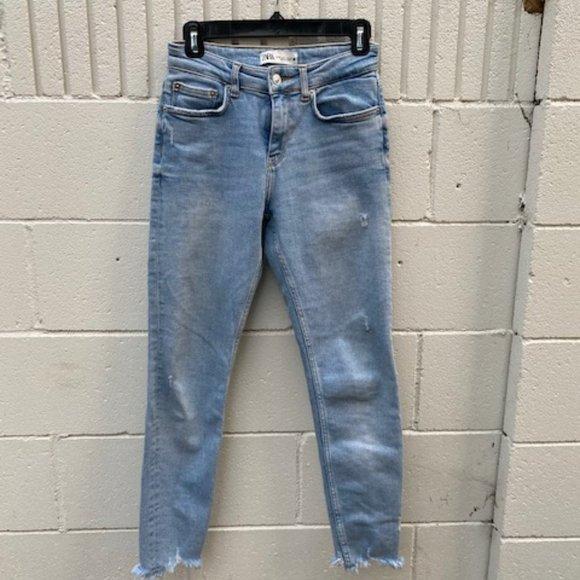 Zara - Skinny-Crop frayed jeans